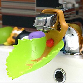 Futaba Silicone Leaves Shape Child Faucet Extender for Hand Washing