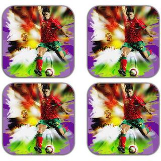 meSleep Football Wooden Coaster-Set of 4