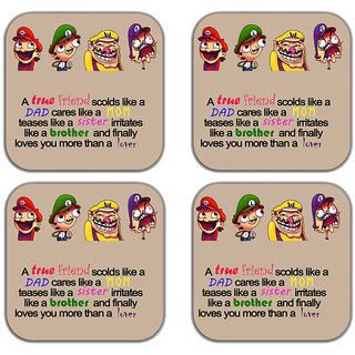 meSleep True Friends Wooden Coaster-Set of 4