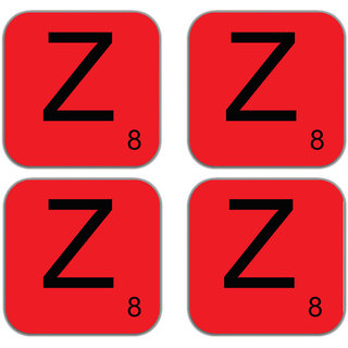meSleep Alphabet Z Wooden Coaster-Set of 4