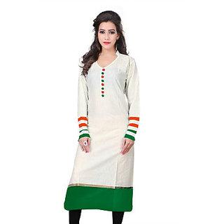 Tricolor all time favourite Cotton Kurti