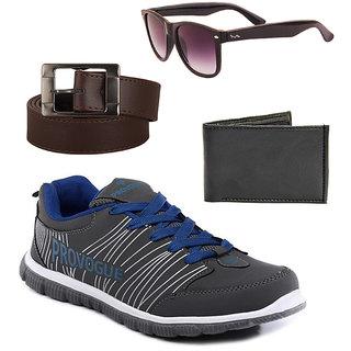 Provogue Men's Blue Sports Shoes (Combo)