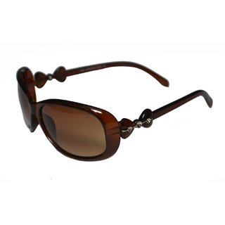 Women Brown Oval Shape Sunglasses