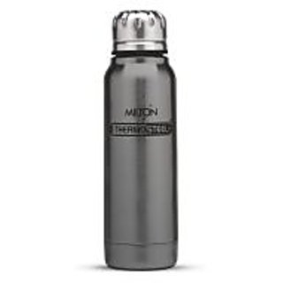 Milton Thermosteel Slender 270ml Insulated Steel Bottle - Grey