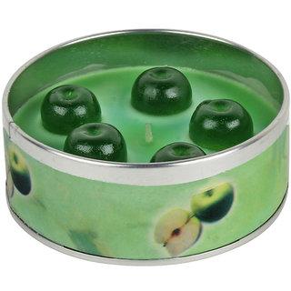 2pcs! PeepalComm Romantic Green Apple Fruit Scented Candle