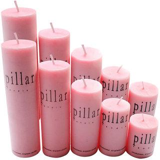 10pcs! Rose Pillar Wax Candles Birthday Christmas Decorative Candle