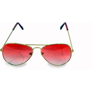 Women  Men Pink Aviator Sunglass
