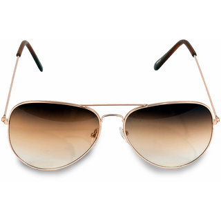37a3b1574a3 Buy Women Men Brown Aviator Sunglass Online - Get 56% Off