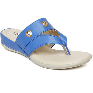 Vendoz Women's Blue Flats