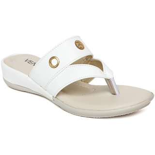 Vendoz Women's White Flats