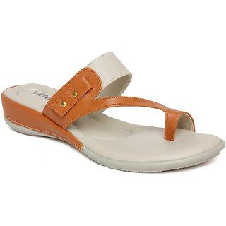 Vendoz Women's Tan Flats