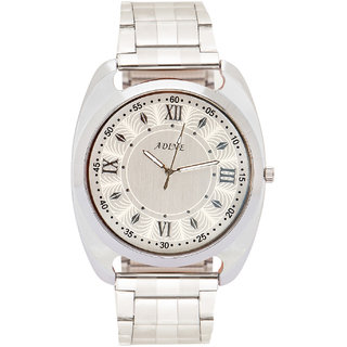 Adine silver dial mens watch