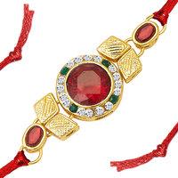 Sukkhi Charming Gold Plated Designer Kundan Rakhi