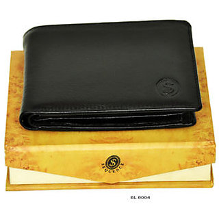 Sequence pure leather Wallet Credit Card Holder for Mens(BLACK) (BL 8004)