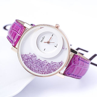 LEBENSZEIT Women Wadding Perpal Diamond  Perpal  White Party Girls And Ladies Watches