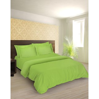 Tangerine Senso Naturals Double Bedsheet Set-Aquacado