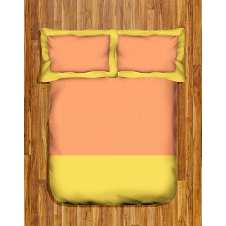 Tangerine Coolers Double Bedsheet Set-Peach Sweet Lime