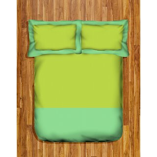 Tangerine Coolers Double Bedsheet Set-Lime  Mint