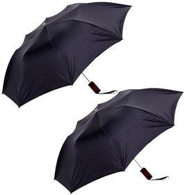 Combo of Two Black  Silver Umbrella