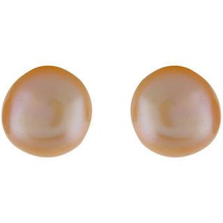 Aarushi Beige Alloy Stud Earring for Women (ARS09)