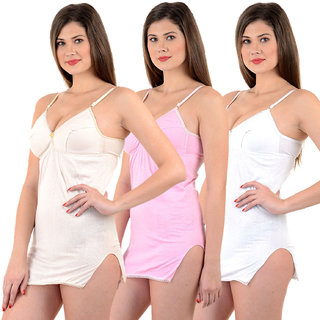 Chilee Life Shehmeez Bra Combo (Pink, White, Beige, Pack Of 3)