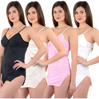 Chileelife Shehmeez Bra Combo (Black, Beige, Pink, White, Pack Of 4)