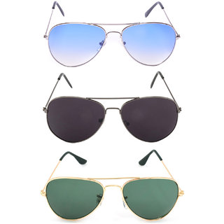 super-x pack of three aviator sunglaasess combo