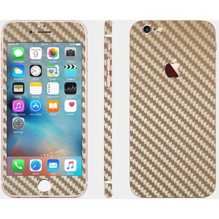 iphone 6 golden carbon skin cover (front+back+sides)