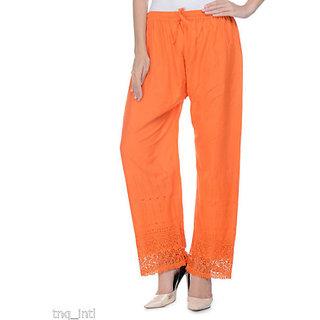 cotton palazzo /women orange palazzo pants/cotton palazzo/ FREE TO PLUS SIZE