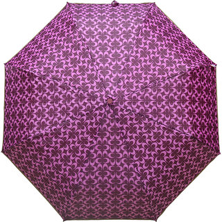 Murano 3 Fold Auto Open Coach Design pink Color Beautiful Umbrella for Wonen