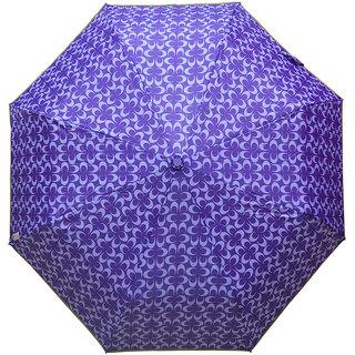 Murano 3 Fold Auto Open Coach Design purple Color Trendy Umbrella for Wonen