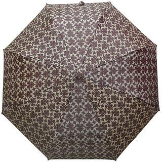 Murano 3 Fold Auto Open Coach Design Brown Color Trendy Umbrella for Wonen