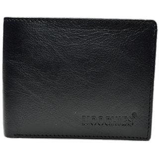 Moochies Black Mens pure leather wallet emzmocgw10black