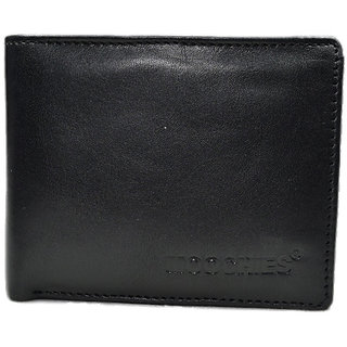 Moochies Black Mens pure leather wallet emzmocgw15Ablack