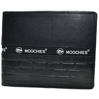 Moochies Black Mens pure leather wallet emzmocgw327black