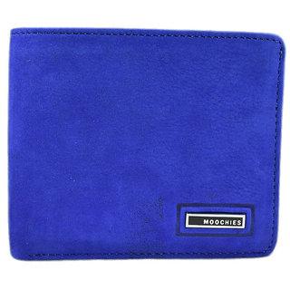 Moochies Blue Mens pure leather wallet emzmocgwnb113eblue