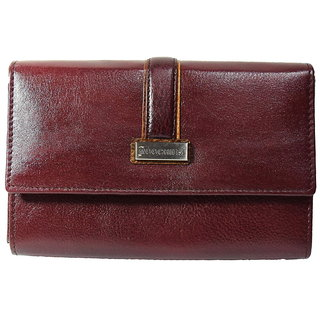Moochies Maroon ladies pure leather clutch emzmocwwA06maroon