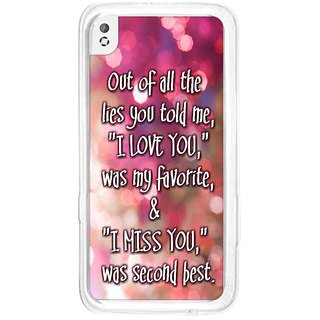 Instyler Digital Printed Back Cover For Htc 816