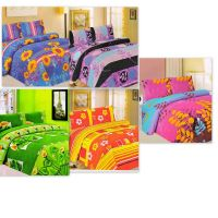 HDECORE Attractive Flowers Set Of 5 Double Bedsheet Combo (Assorted Colour Availble)