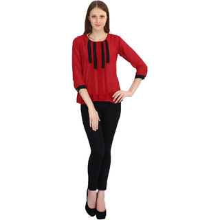 Lychee Maroon Top For Womens