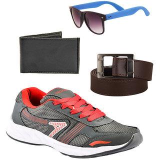 Provogue Men's Gray Sports Shoes