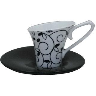 Classique Bone China Tea/Coffee Cup  Saucer Set of 12 Pieces