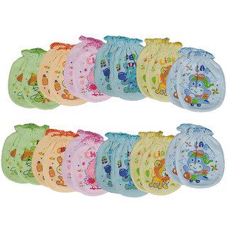 Aarushi Printed Babys Mittens Pack of 12