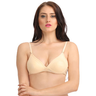 Clovia Skin Blend Non-Padded Wirefree Solid Bra
