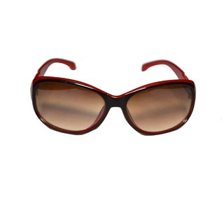 e49595068a4 Buy Women Red Oval Shape With Black Sides Sunglass Online - Get 50% Off