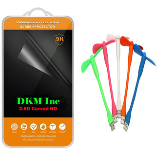 2.5D Curved Edge Clear HD Tempered Glass for Lenovo Vibe K5 with Flexible USB Fan