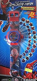 Spider Man Projector Watch (Assorted color and design)