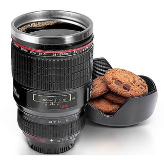 Camera Lens Coffee Mug - Stainless Steel Coffee Mug