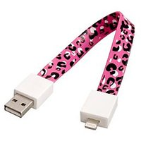 23cm Bracelet Shaped Leopard Charging And Data Cable For IPhone 5