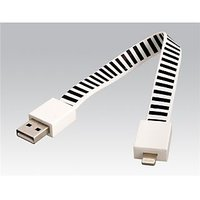 23cm Bracelet Shaped Striped Charging And Data Cable For IPhone 5